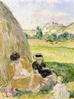 Bild:Woman and Children in the Countryside