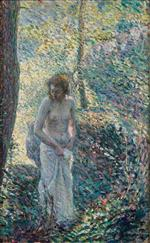 Henri Lebasque  - Bilder Gemälde - Young Girl in the Forest