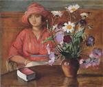 Henri Lebasque  - Bilder Gemälde - Young girl with flowers