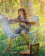 Henri Lebasque  - Bilder Gemälde - Young Painter