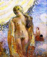 Henri Lebasque  - Bilder Gemälde - Young Woman at the Beach