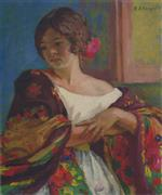 Henri Lebasque  - Bilder Gemälde - Young woman in a shawl