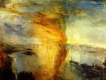 Joseph Mallord William Turner - Peintures - L'incendie du Parlement
