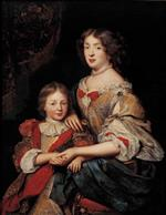 Pierre Mignard - Bilder Gemälde - A Woman and her Son