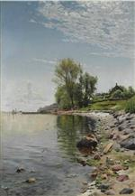 Peder Mønsted - Bilder Gemälde - Coastal View