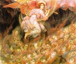 Evelyn De Morgan - Bilder Gemälde - Angel Piping to the Souls in Hell