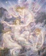 Evelyn De Morgan - Bilder Gemälde - Daughters of the Mist