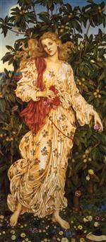 Evelyn De Morgan - Bilder Gemälde - Flora