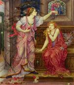 Evelyn De Morgan - Bilder Gemälde - Queen Eleanor and Fair Rosamund