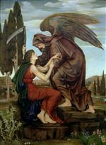 Evelyn De Morgan  - Bilder Gemälde - The Angel of Death