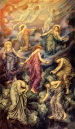 Evelyn De Morgan  - Bilder Gemälde - The Kingdom of Heaven Suffereth Violence