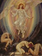 Evelyn De Morgan  - Bilder Gemälde - The Light Shineth in Darkness and the Darkness Comprehendeth It Not