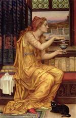 Evelyn De Morgan  - Bilder Gemälde - The Love Potion