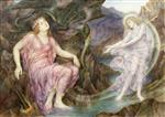 Evelyn De Morgan  - Bilder Gemälde - The Passing of the Soul at Death