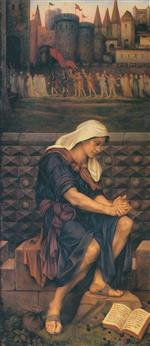 Evelyn De Morgan  - Bilder Gemälde - The Poor Man who Saved the City