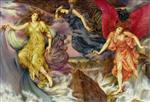 Evelyn De Morgan  - Bilder Gemälde - The Storm Spirits