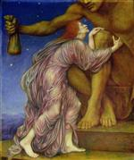 Evelyn De Morgan  - Bilder Gemälde - The Worship of Mammon