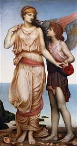 Evelyn De Morgan  - Bilder Gemälde - Venus and Cupid