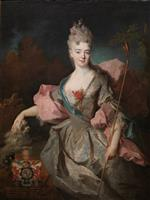 Jean Baptiste Oudry - Bilder Gemälde - Lady Mary Josephine Drummond, Countess of Castelblanco