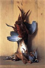 Jean Baptiste Oudry - Bilder Gemälde - Still Life with a Hare, a Pheasant and a Red Partridge