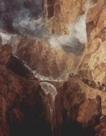 Joseph Mallord William Turner - Peintures - Le pont du diable au Saint-Gothard