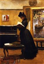 John Lavery - Bilder Gemälde - A Visitor to the Studio