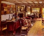 John Lavery - Bilder Gemälde - A Writing Room At The Wharf, Sutton Courtenay