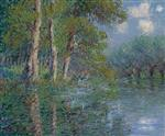 Gustave Loiseau - Bilder Gemälde - A Bend in the Eure