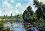 Gustave Loiseau - Bilder Gemälde - A Bend in the River, the Eure at Saint Cyr-du-Vaudreuil