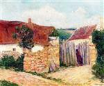 Gustave Loiseau - Bilder Gemälde - A House in the Village