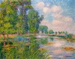 Gustave Loiseau - Bilder Gemälde - Banks of the Eure