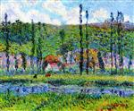 Gustave Loiseau - Bilder Gemälde - Banks of the Euro and the Haut Cremonville