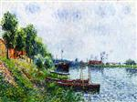 Gustave Loiseau - Bilder Gemälde - Banks of the River Oise
