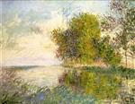 Gustave Loiseau - Bilder Gemälde - Banks of the River, Normandy