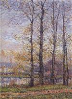 Gustave Loiseau  - Bilder Gemälde - By the Oise at Precy