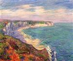 Gustave Loiseau  - Bilder Gemälde - Cliffs at Fecamp in Normandy