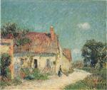 Gustave Loiseau  - Bilder Gemälde - Cottage in Normandy