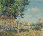 Gustave Loiseau  - Bilder Gemälde - Cottage Under Trees