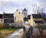 Gustave Loiseau  - Bilder Gemälde - Entrance of the Village of Osny near Pontoise