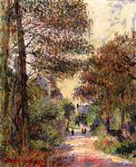 Gustave Loiseau  - Bilder Gemälde - Entrance to the Village in Autumn