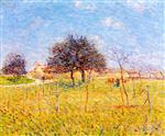 Gustave Loiseau  - Bilder Gemälde - Entrance to the Village of Saint-Cyr du Vaudreuil
