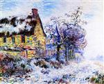Gustave Loiseau  - Bilder Gemälde - Houses and Trees in the Snow