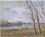 Gustave Loiseau  - Bilder Gemälde - Port Pinche at the turn of the Seine