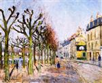 Gustave Loiseau  - Bilder Gemälde - Quay alongside the River, Village, Sunlight