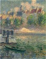 Gustave Loiseau  - Bilder Gemälde - Quay of the Hotel Deville in Paris