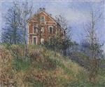 Gustave Loiseau  - Bilder Gemälde - Red House near Port Marly