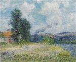 Gustave Loiseau  - Bilder Gemälde - Riverbend on the Seine