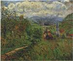 Gustave Loiseau  - Bilder Gemälde - Route by the Village