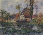 Gustave Loiseau  - Bilder Gemälde - Small Farm by the Eure River