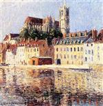Gustave Loiseau  - Bilder Gemälde - The Cathedral at Auxerre